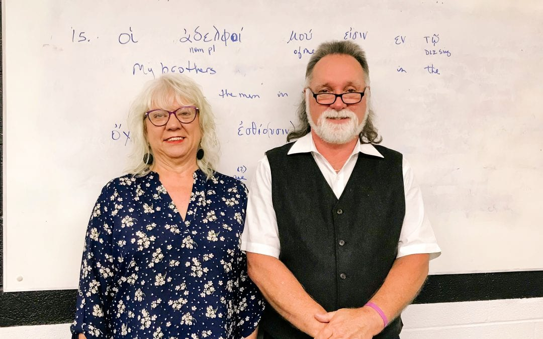 Couple learns Greek together at TBC
